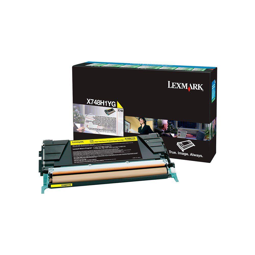 TONER AMARELO ORIGINAL LEXMARK X748H1YG