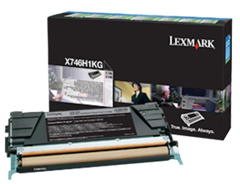 Toner Lexmark X746H1KG 746 748 Original ? 12.000 Pgs - Preto