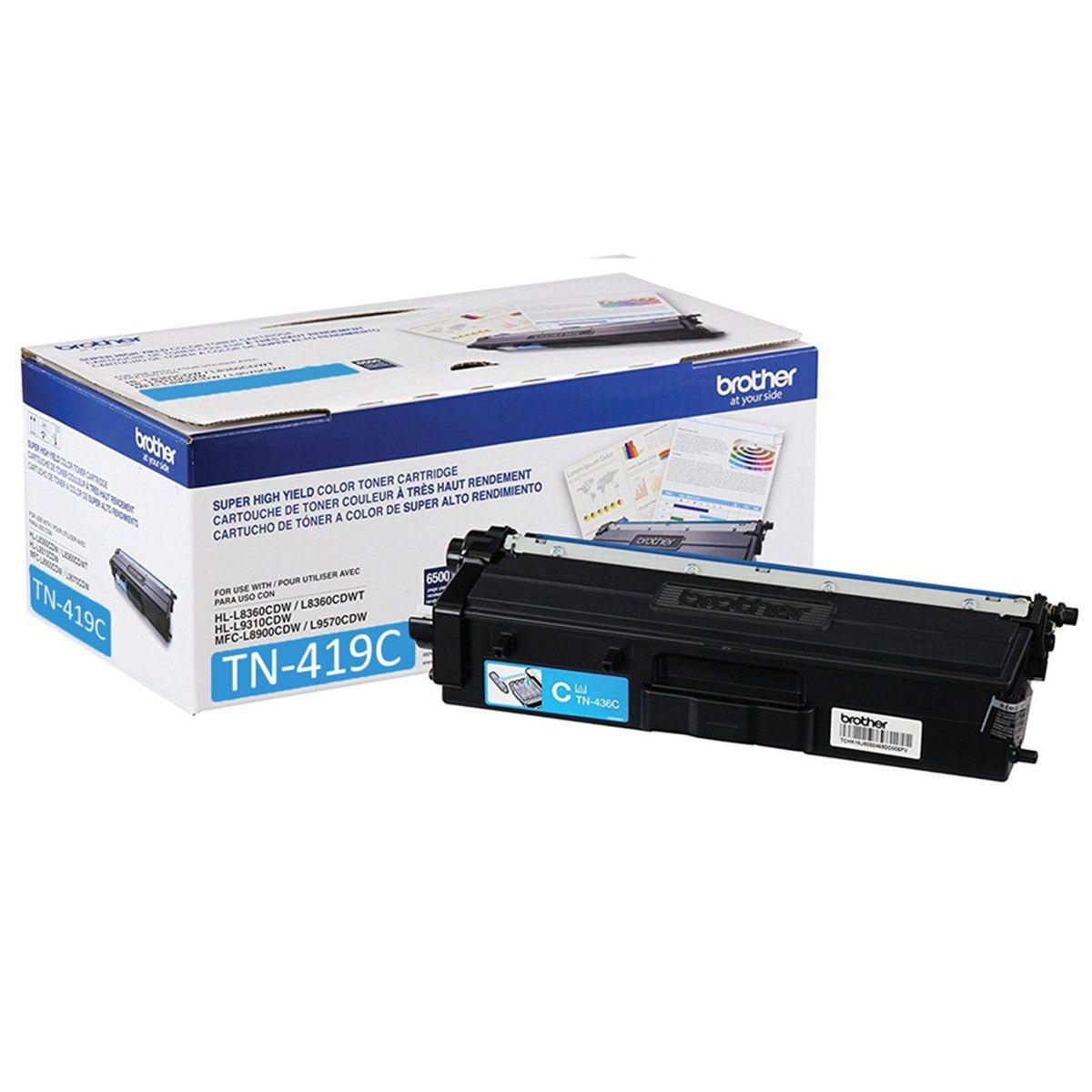 Toner Original Brother Tn419C Tn-419C Ciano Tn419 L8360 L8610 L8900 L9570 9k
