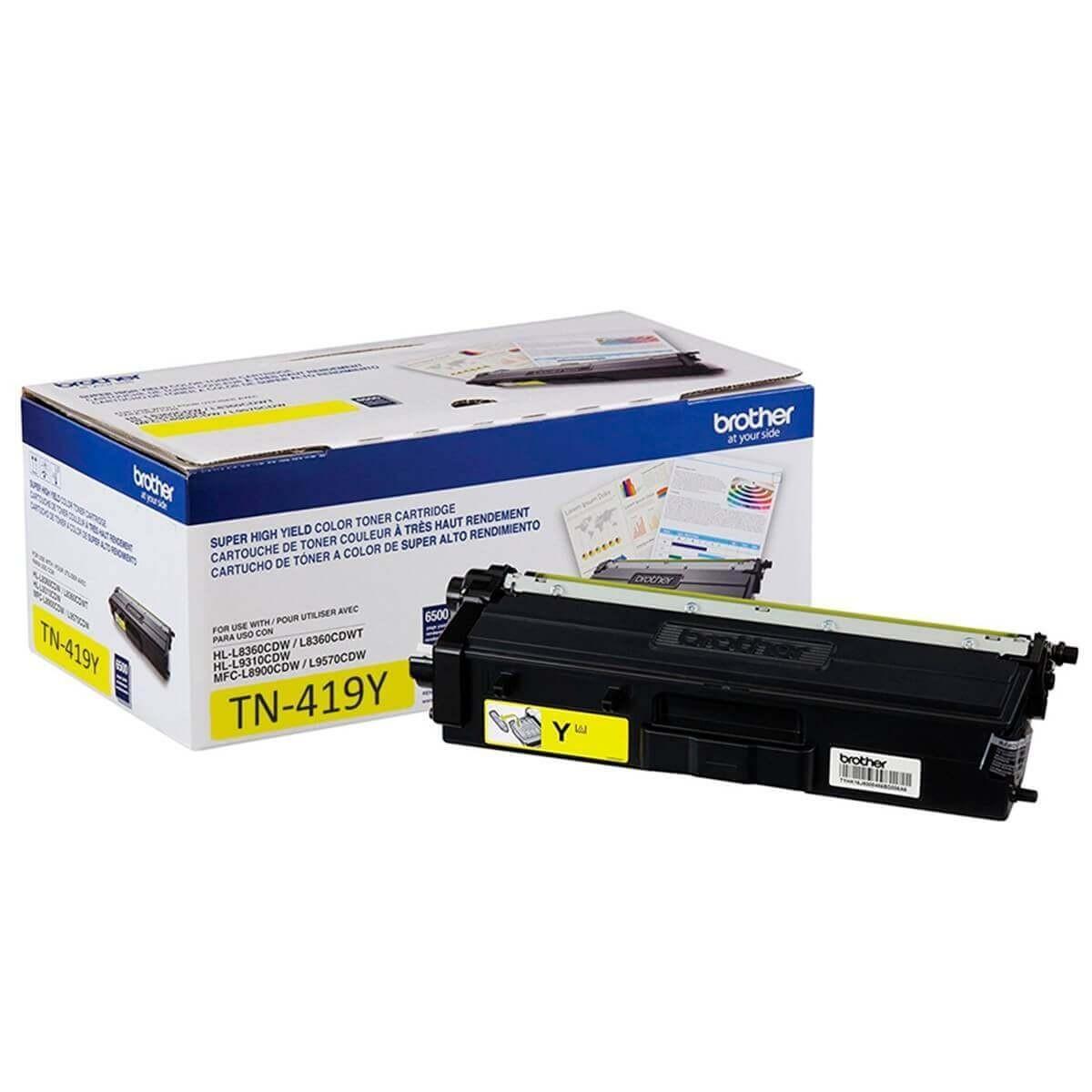 Toner Original Brother Tn419y Tn-419y Yellow Tn419 L8360 L8610 L8900 L9570 9k
