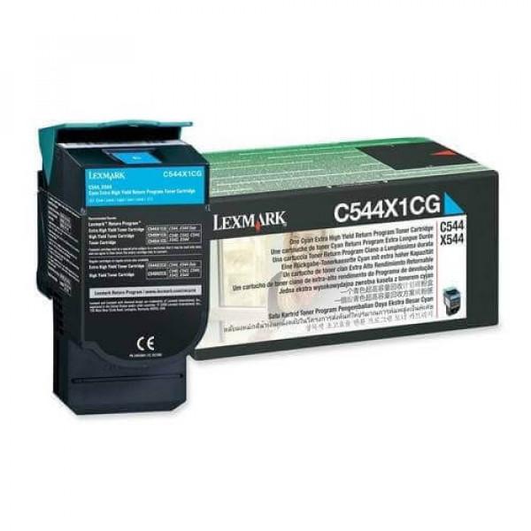 Toner Original C544dn Ciano - C544X1CG Lexmark -www.acessoshop.com.br