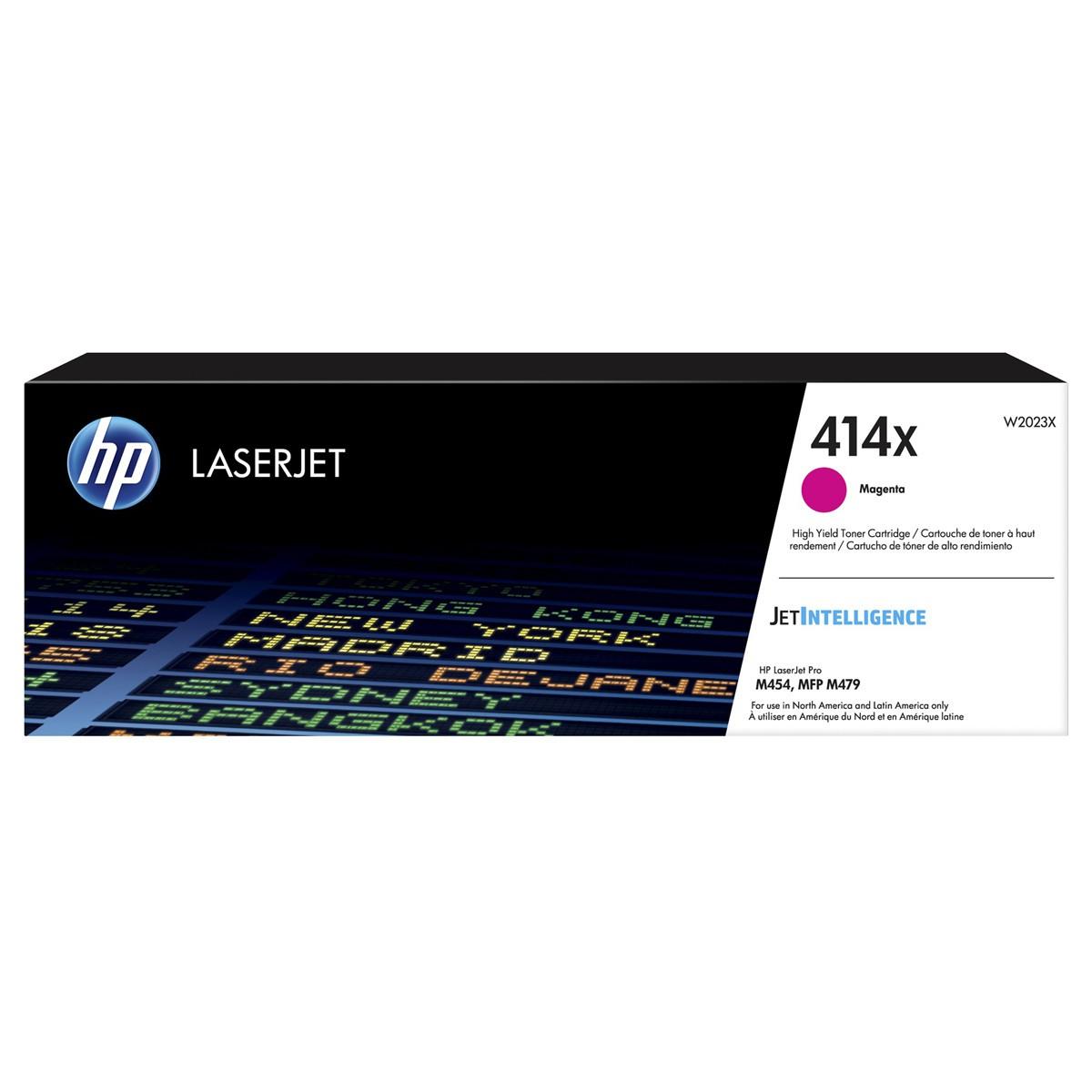 Toner Original HP 414X - W2023X Magenta  - 6.000Cópias
