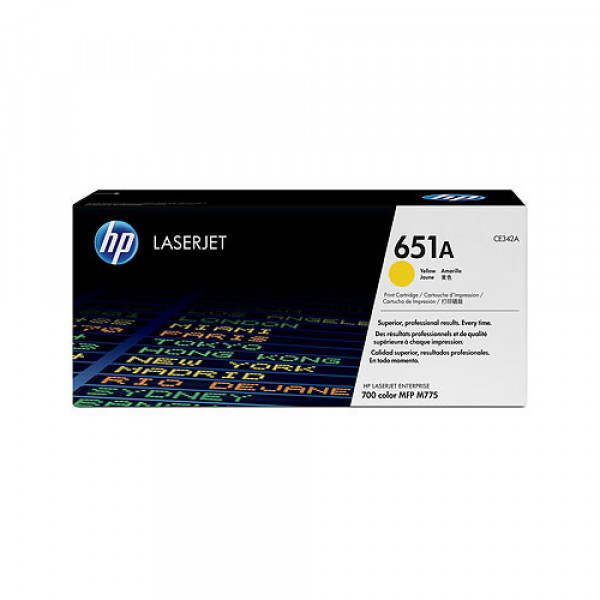 TONER ORIGINAL HP YELLOW CE342A