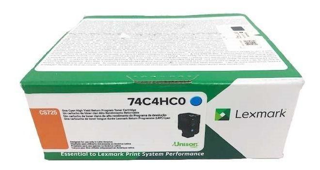 Toner Original Lexmark 74C4HC0 rendimento extra-alto ? 12.000 Pgs - Ciano