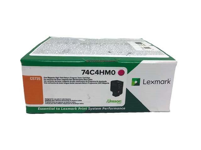 Toner Original Lexmark 74C4HM0 rendimento extra-alto 12.000 Pgs - Magenta