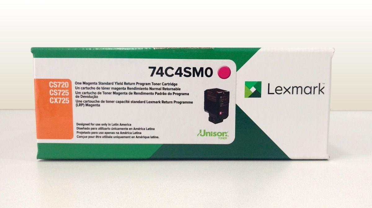 Toner Original Lexmark 74C4SM0 rendimento extra-alto 7.000 Pgs - Magenta