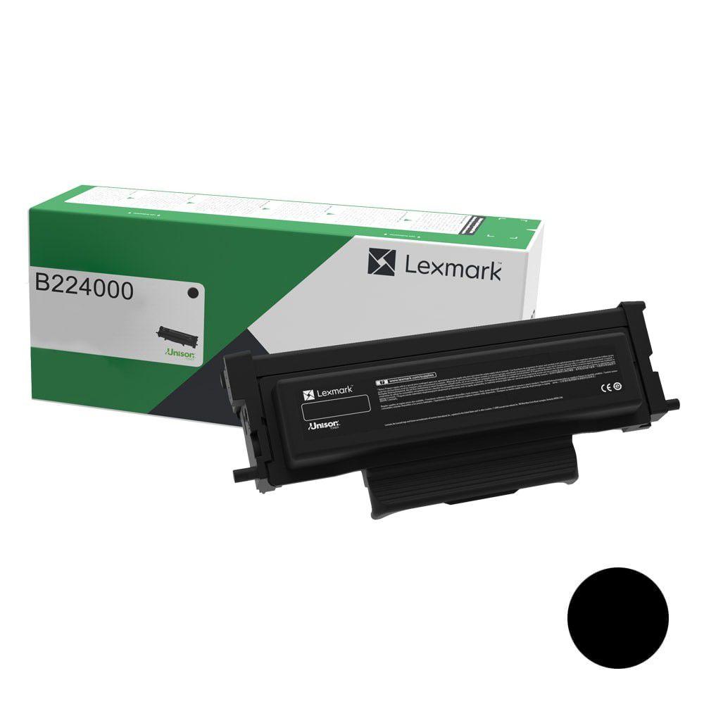 Toner Original Lexmark B224000 rendimento extra-alto 1.200 Pgs - Preto