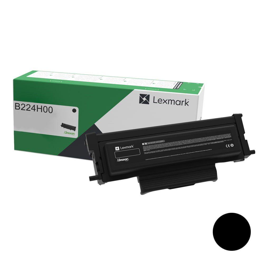 Toner Original Lexmark B224H00 rendimento extra-alto 3.000 Pgs - Preto