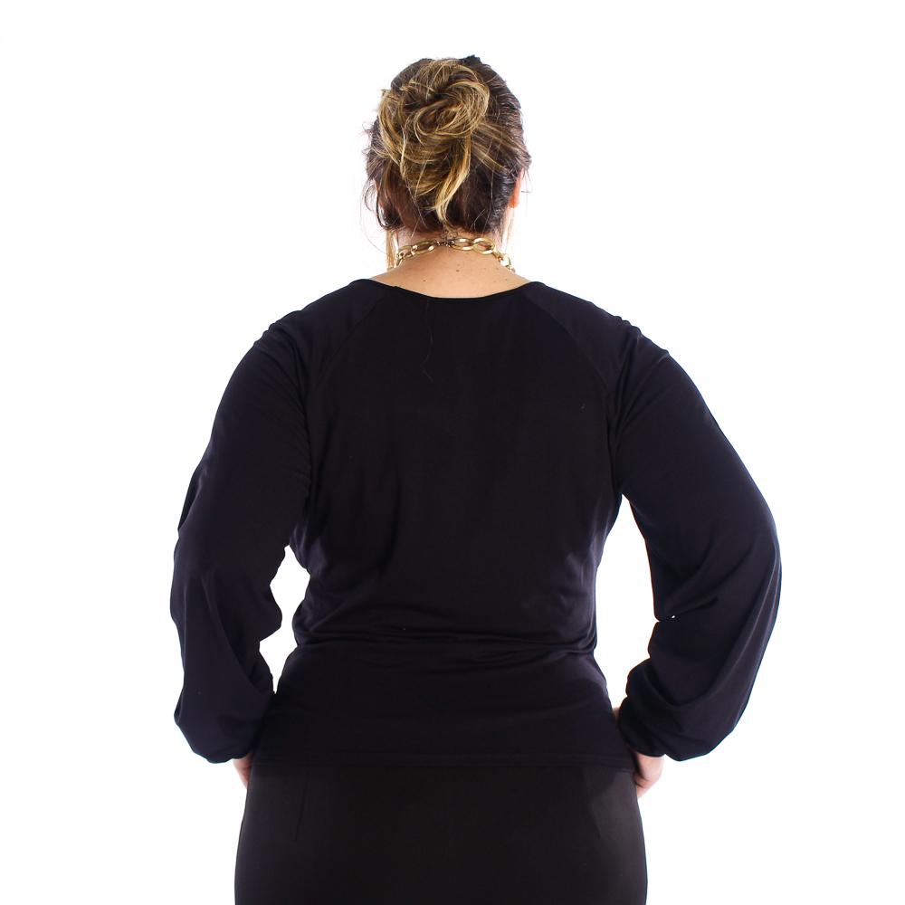 Blusa manga longa bufante