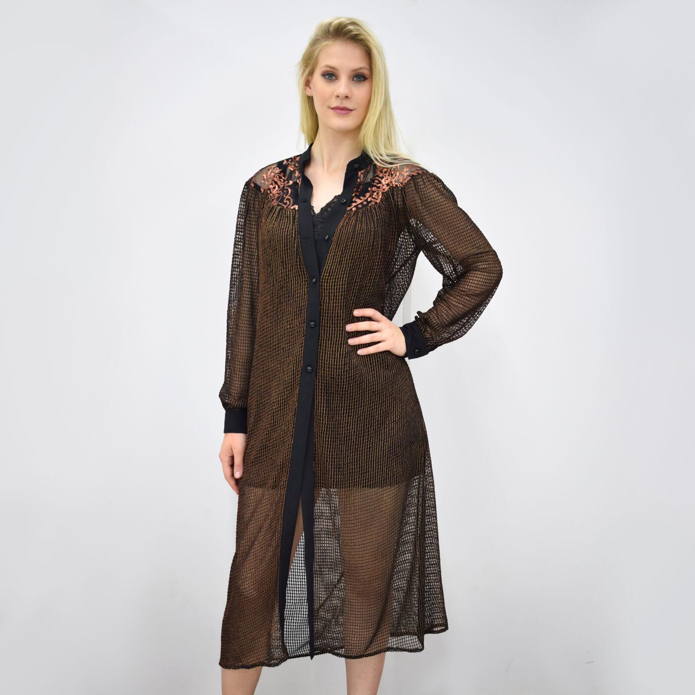 Camisa longa Lika com detalhes em paetê