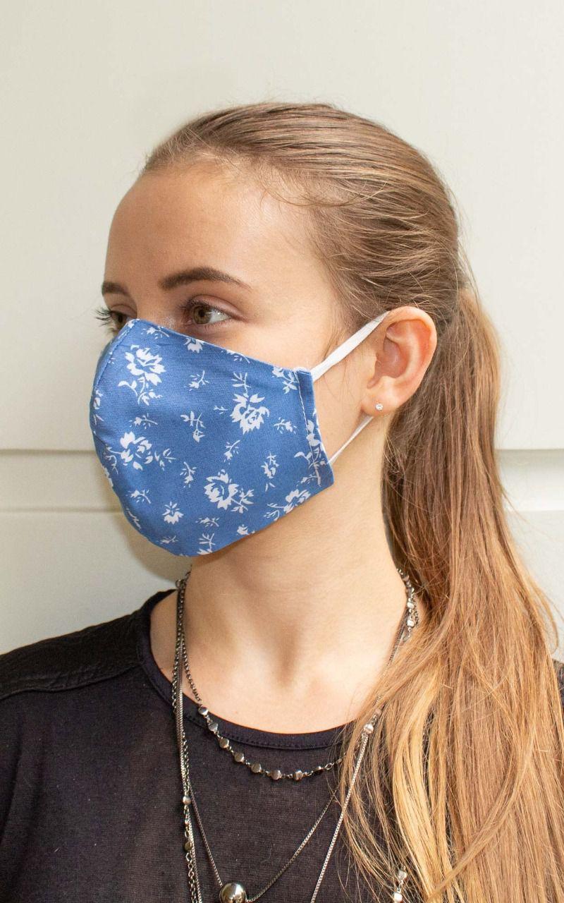 Máscara bico de pato na cor azul
