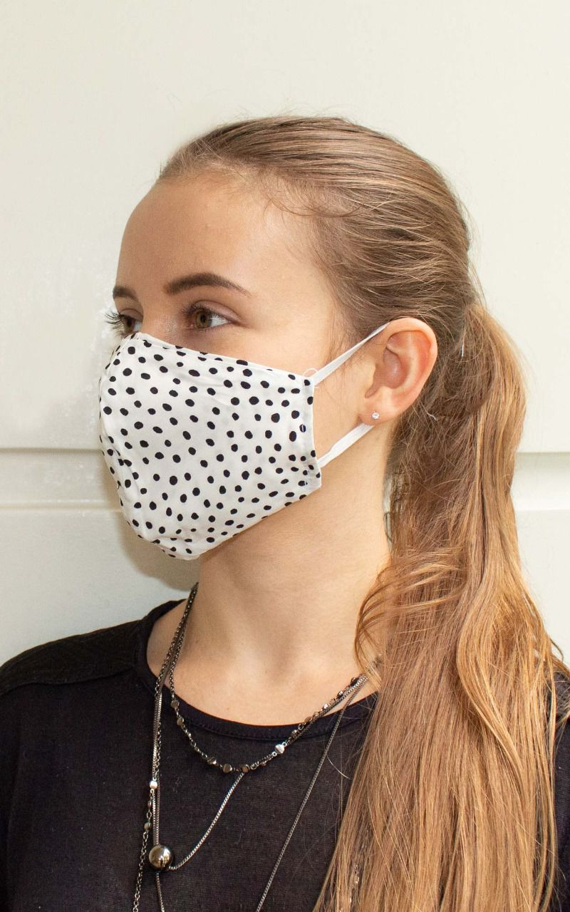 Máscara bico de pato na cor poá