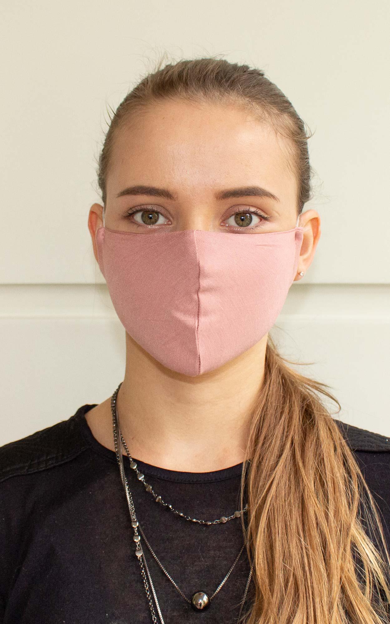 Máscara bico de pato na cor rosa