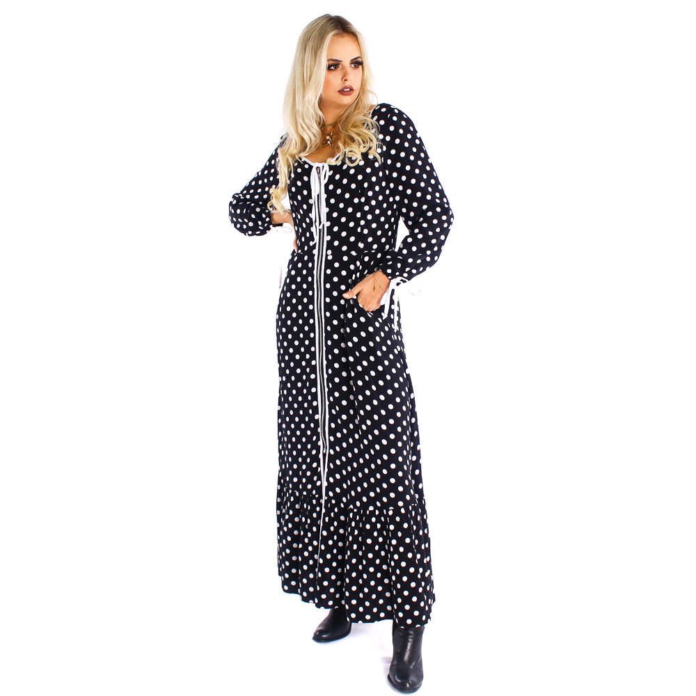 Vestido longo com ziper