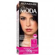 Coloração Permanente ALTA MODA 150G 5 CASTAN CLARO