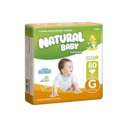 FRALDA NATURAL BABY PREMIUM HIPER G 80UN