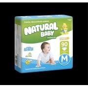 FRALDA NATURAL BABY PREMIUM HIPER M 90UN