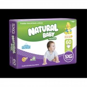 FRALDA NATURAL BABY PREMIUM HIPER SXG 60UN