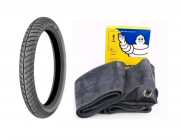 Kit Pneu Moto Michelin City Pro 90/90-18 57p + Câmara Aro 18