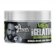 MÁSCARA GELATINA EFEITO INVISIVEL MEN CURLY - SOUL POWER 250G