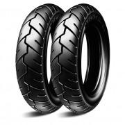 Par Pneu Moto Michelin S1 3.00-10 + 3.50-10 Sem Câmara