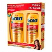 SHAMPOO+CONDICIONADOR NIELY GOLD QUERATINA RECONSTRUÇÃO