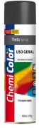 Tinta Chemicolor Uso Geral Preto Fosco - Baston 400ml