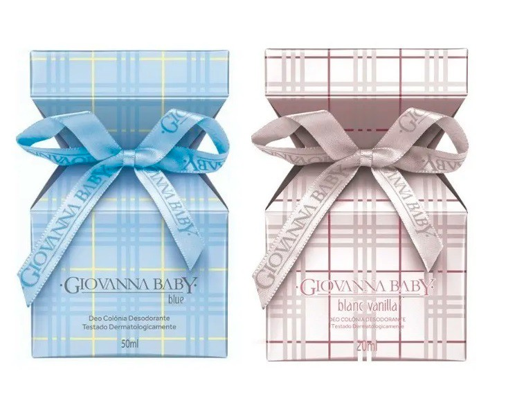 2 Deo Colônias Giovanna Baby Blanc Vanilla/blue 50ml