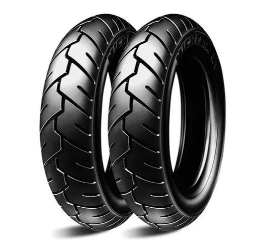 2 Unidades Pneu Para Moto Michelin S1 Tl/tt 3.00-10 50j