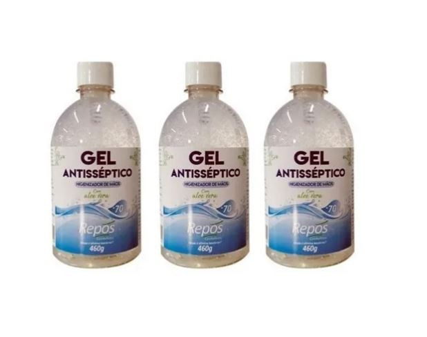 3 Álcool Gel 70 Antisséptico Higienizante 460g S/ Válvula