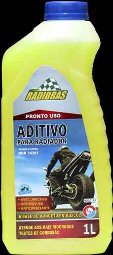 ADITIVO PARA RADIADOR PRONTO USO MOTO RX-2018 AMARELO 1L - RADIBRAS