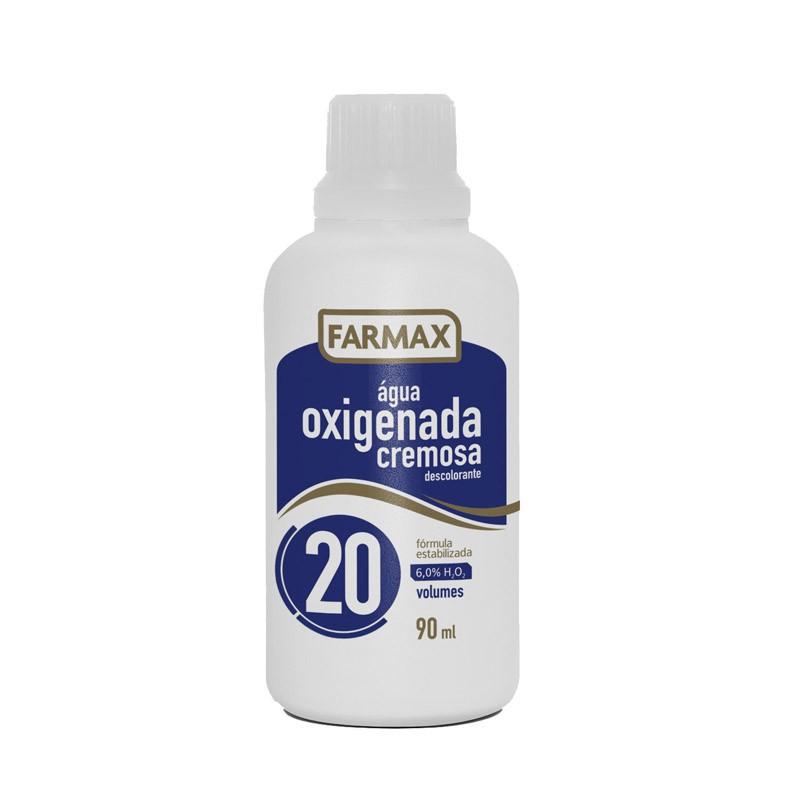 ÁGUA OXIGENADA CREMOSA 90ML 20VOL - FARMAX
