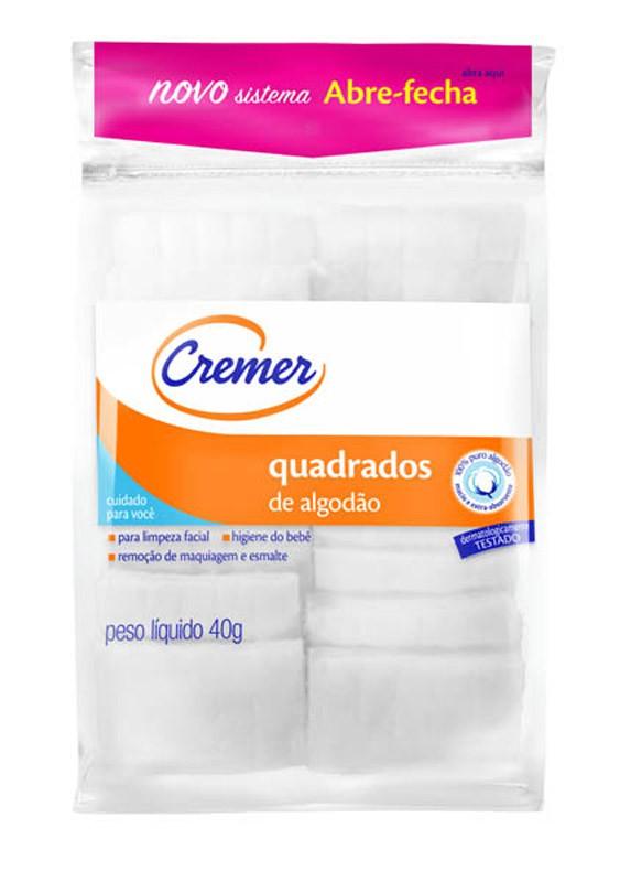ALGODÃO CREMER QUADRADO 40G ZIPLOCK