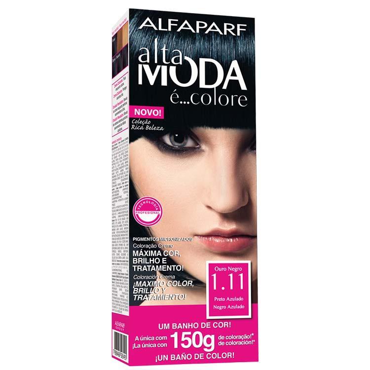 Coloração Permanente ALTA MODA 150G 1.11 PRETO AZU