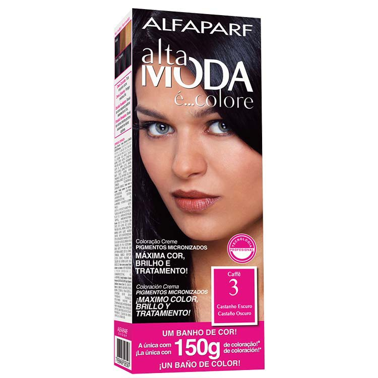 Coloração Permanente ALTA MODA 150G 3 CAST ESCURO