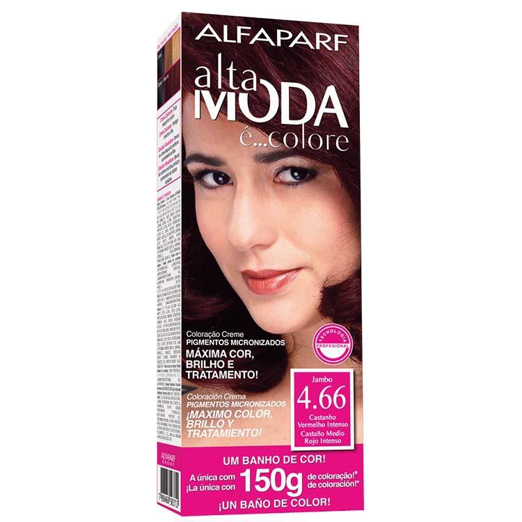 Coloração Permanente ALTA MODA 150G 4.66 CAST VERM