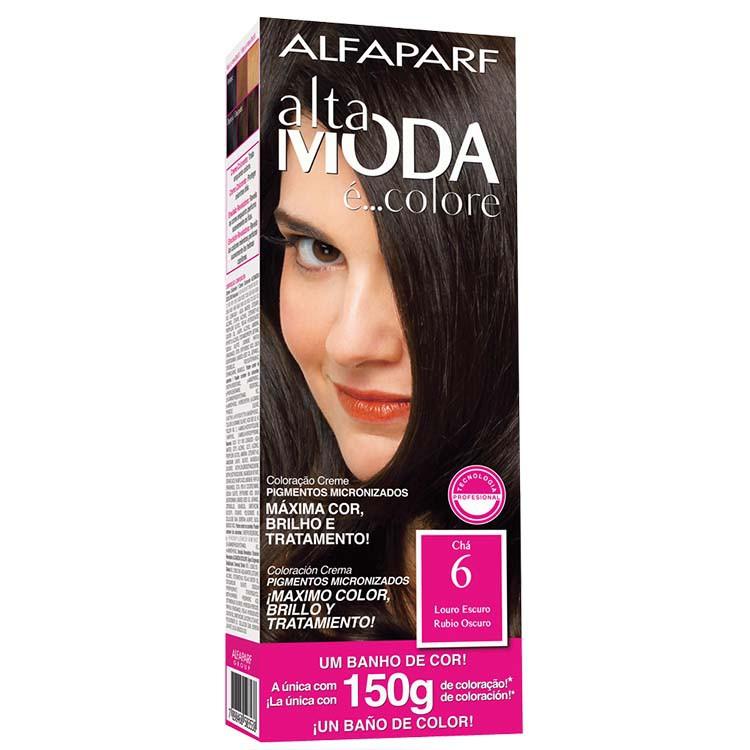 Coloração Permanente ALTA MODA 150G 6 LOURO ESCURO