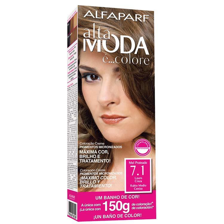 Coloração Permanente ALTA MODA 150G 7.1 LOURO CINZ