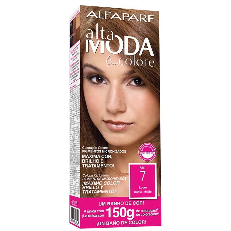 Coloração Permanente ALTA MODA 150G 7 LOUR MEL