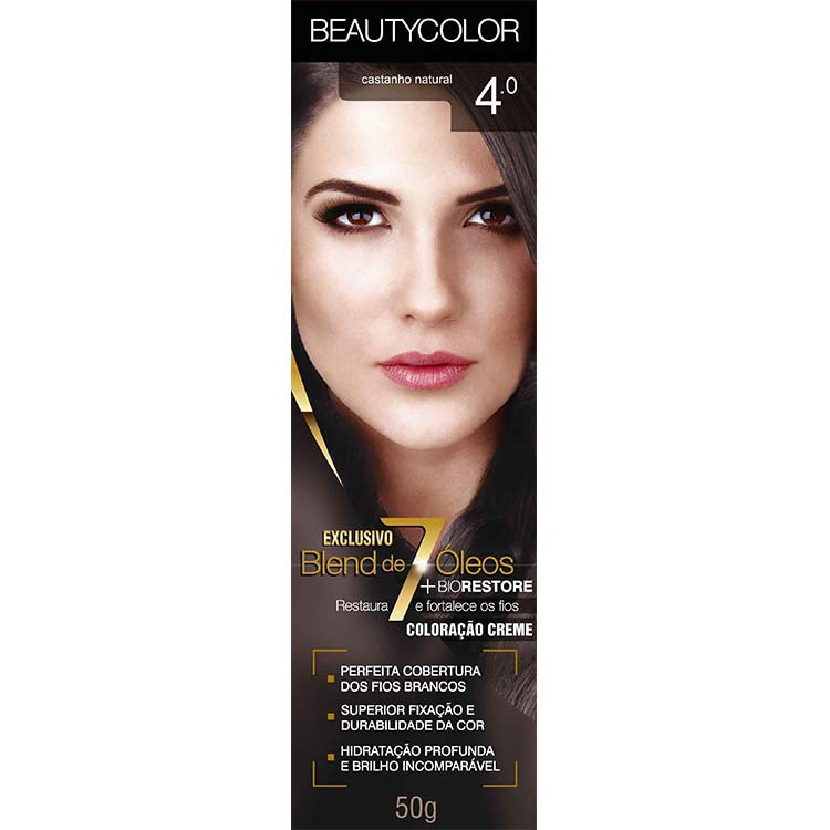 Coloração Permanente BEAUTY 45G 4.0 CAST NATURAL