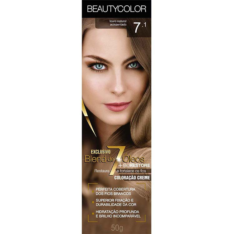 Coloração Permanente BEAUTY 45G 7.1 LOU NAT ACINZE
