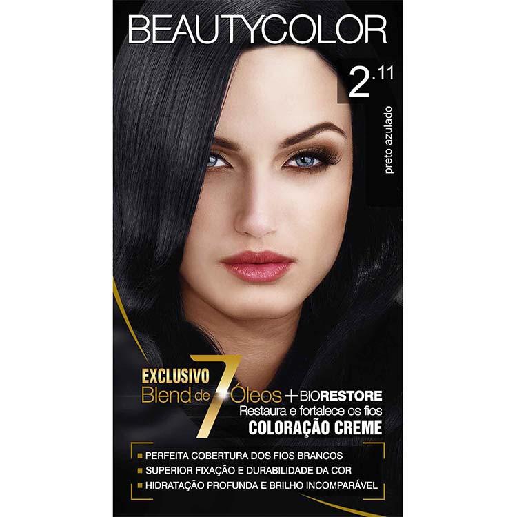 Coloração Permanente BEAUTY KIT 2.11 PRETO AZULADO