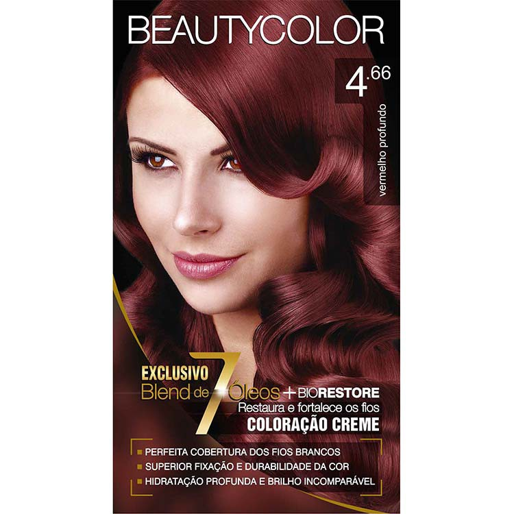 Coloração Permanente BEAUTY KIT 4.66 VERM PROFUNDO