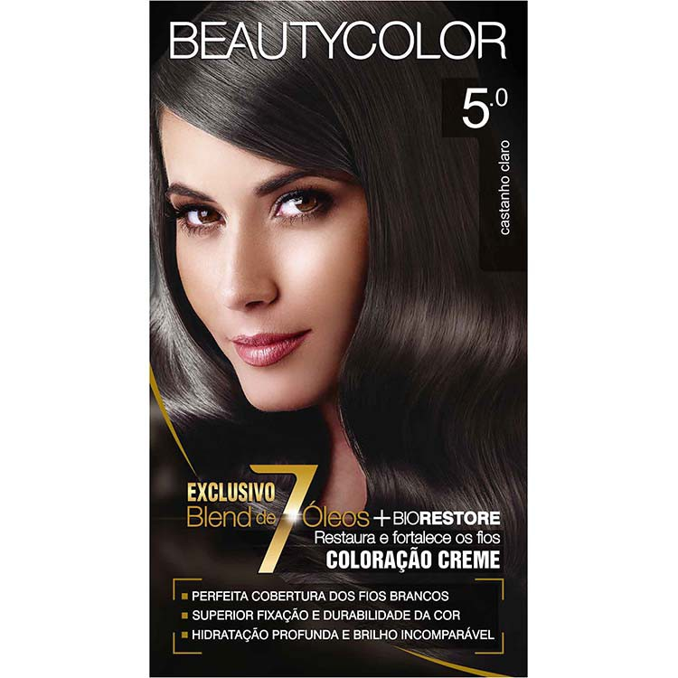Coloração Permanente BEAUTY KIT 5.0 CAST CLARO