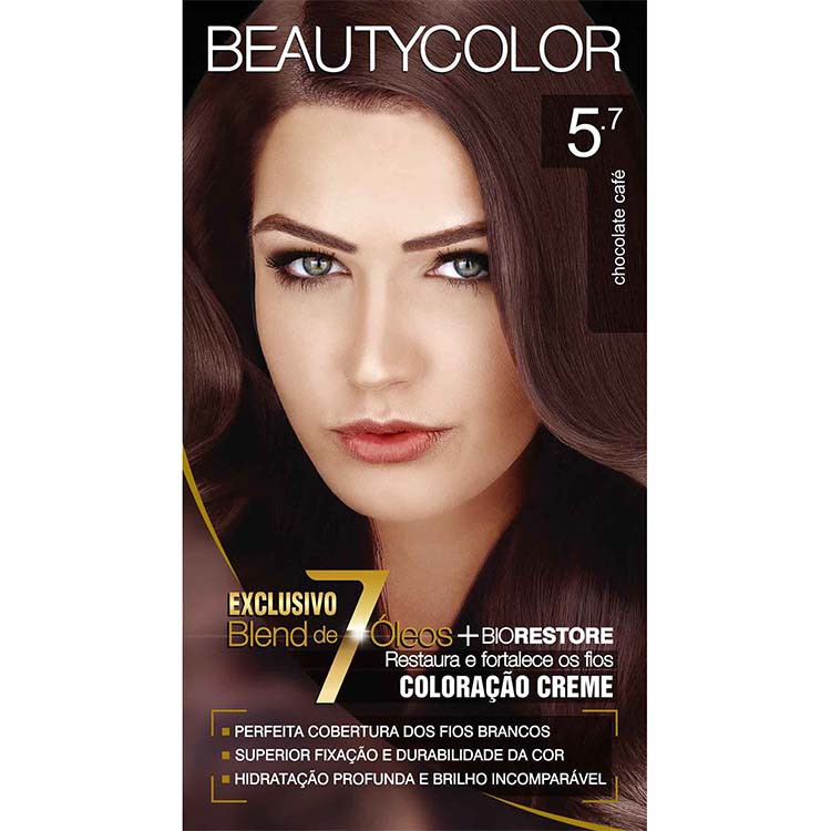 Coloração Permanente BEAUTY KIT 5.7 CHOCOLATE CAFE