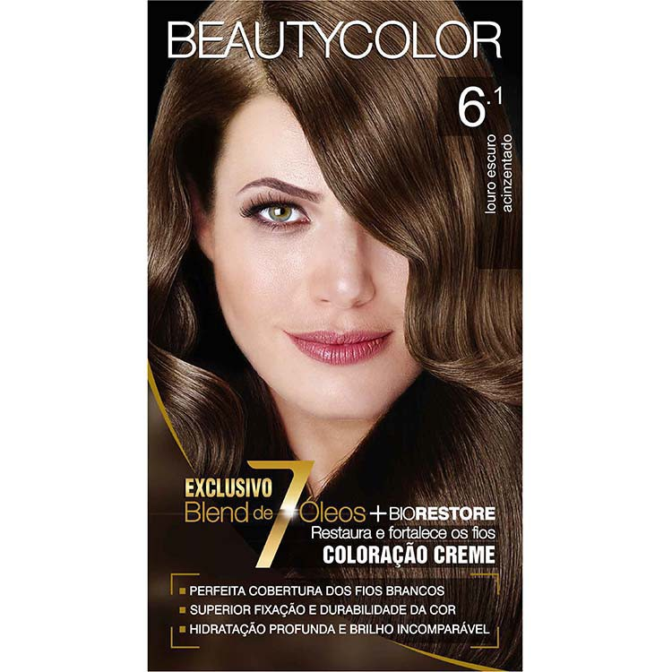 Coloração Permanente BEAUTY KIT 6.1 LOUR ESC ACINZ