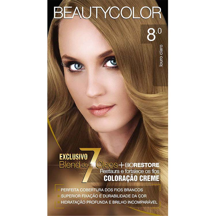 Coloração Permanente BEAUTY KIT 8.0 LOUR CLARO