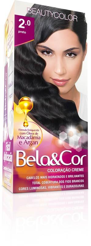 Coloração Permanente BELA&COR 110G 2.0 PRETO