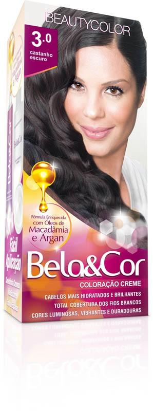 Coloração Permanente BELA&COR 110G 3.0 CASTANHO ESCURO