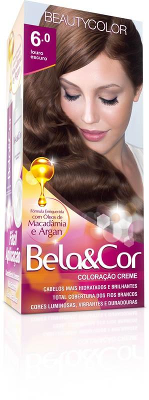 Coloração Permanente BELA&COR 110G 6.0 LOURO ESCURO